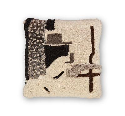Déco - Coussins - Coussin Abstract / 45 x 45 cm - Tom Dixon - Gris - Laine, Lin, Plumes canard