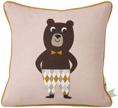 Déco - Pour les enfants - Coussin Ours / 30 x 30 cm - Ferm Living - Ours / Multicolore - Coton biologique