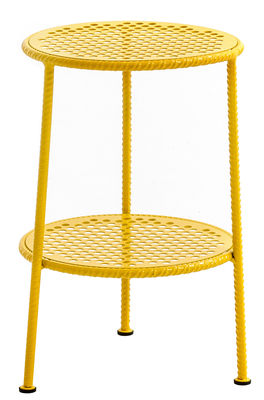 Furniture - Coffee Tables - Work is Over End table - Ø 35 cm by Diesel with Moroso - Yellow - Varnished steel