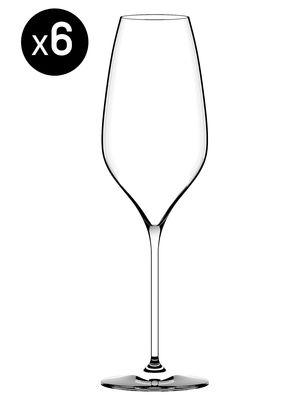 Arts de la table - Verres  - Flûte à champagne Richard Juhlin Optimum / 29 cl - Set de 6 - Italesse - Transparent - Verre