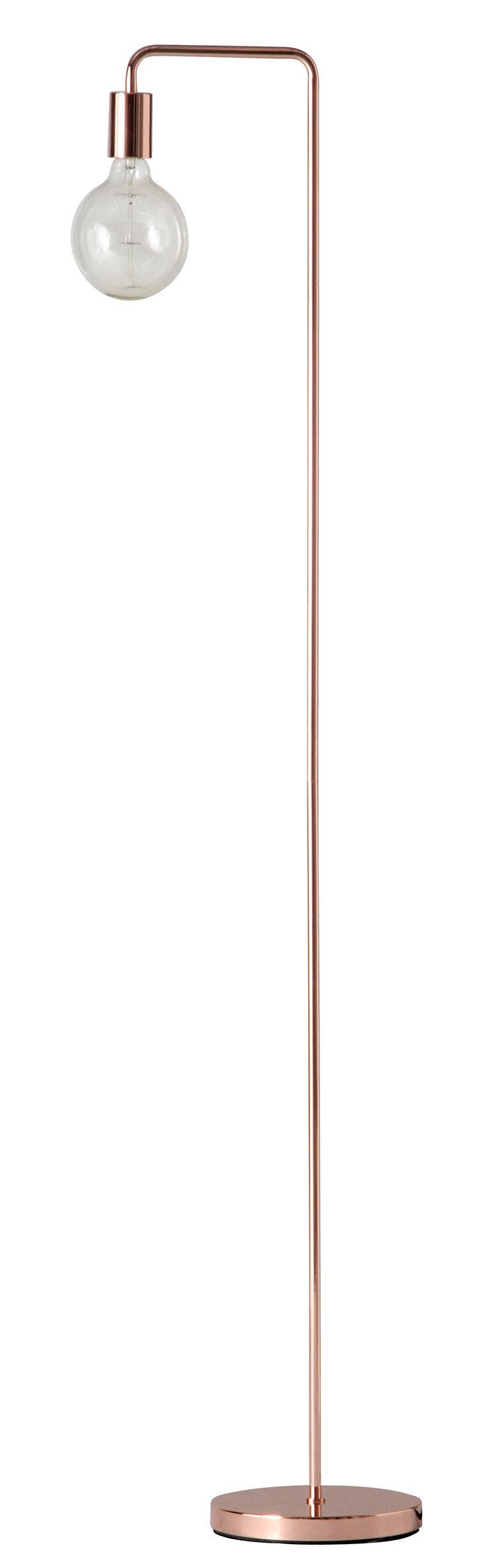 Illuminazione - Lampade da terra - Lampada a stelo Cool - / H 153 cm di Frandsen - Rame - Métal finition cuivre
