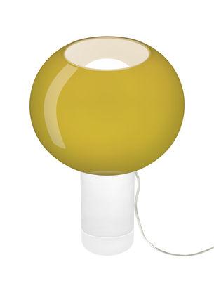 Illuminazione - Lampade da tavolo - Lampada da tavolo Buds 3 / Vetro artigianale - Ø 30 x H 42 cm - Foscarini - Verde bambù / Piede trasparente - PMMA, vetro soffiato