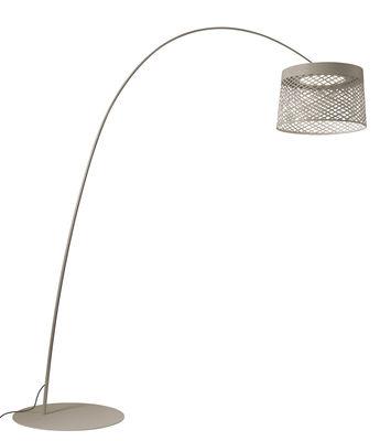Luminaire - Lampadaires - Lampadaire Twiggy Grid LED Outdoor / Ø 46 x H 29 cm - Foscarini - Gris - Fibre de verre, Matériau composite, Métal verni