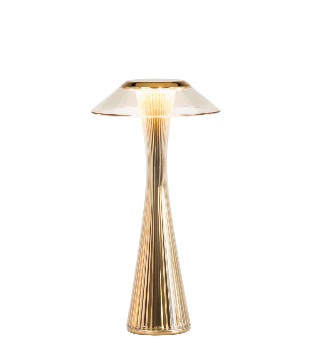 Luminaire - Lampes de table - Lampe de table Space / LED - Rechargeable - Kartell - Or - ABS, PMMA