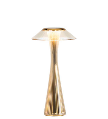 Luminaire - Lampes de table - Lampe sans fil Space Outdoor / LED - Rechargeable - Kartell - Or - ABS, PMMA