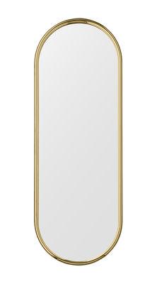 Miroir mural Angui / L 39 x H 108 cm - AYTM doré en métal