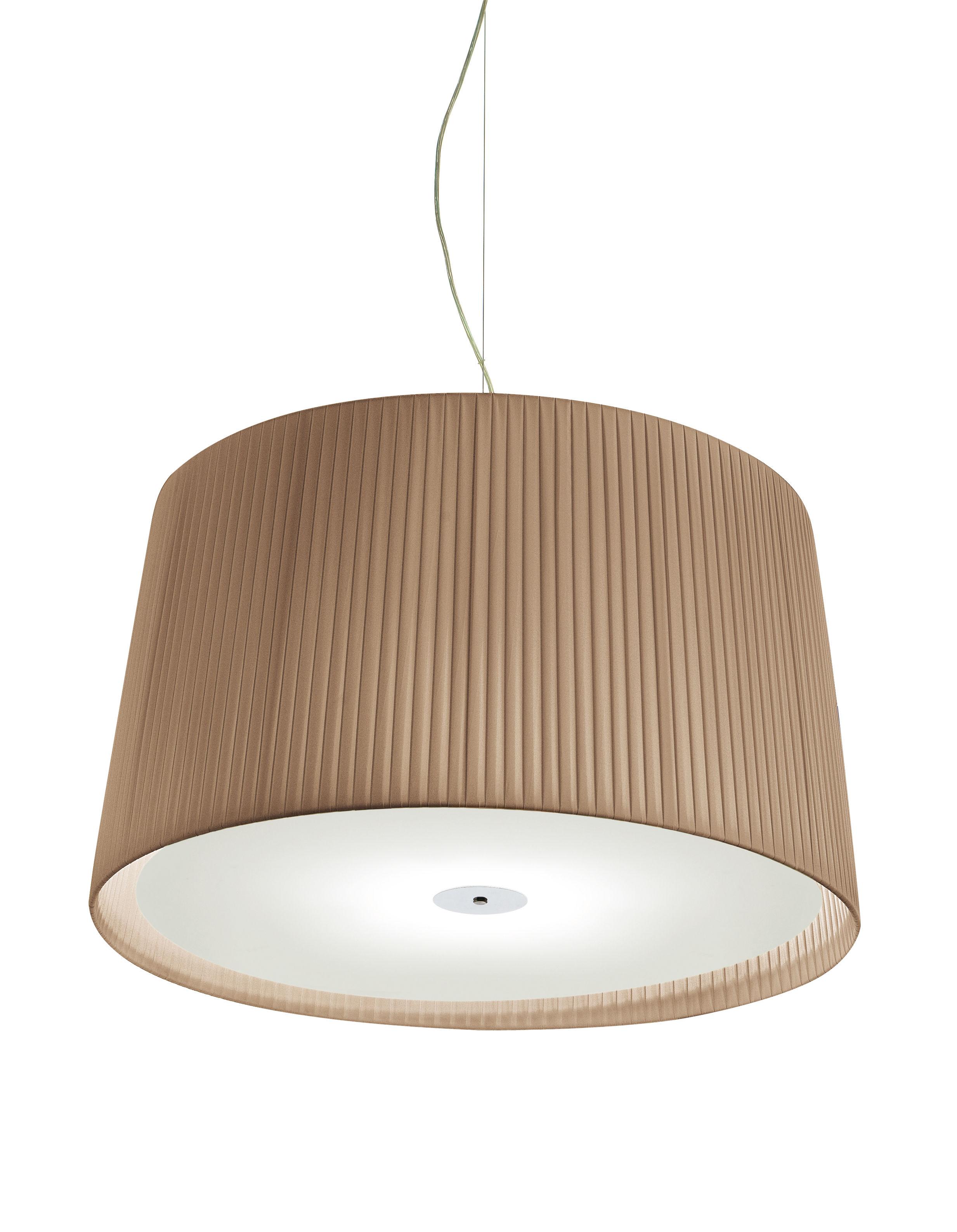 Lighting - Pendant Lighting - Milleluci Pendant - / Ø 40 cm by Modoluce - Dark Beige - Cotton, Plexiglas