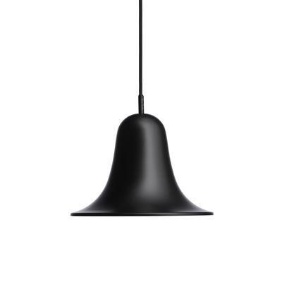 Lighting - Pendant Lighting - Pantop Pendant - / Ø 23 cm - Verner Panton (1980) by Verpan - Matt black - Painted metal