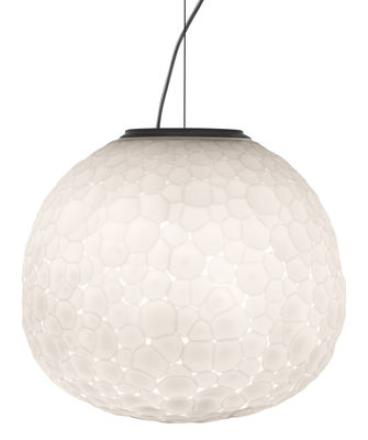 Leuchten - Pendelleuchten - Meteorite Pendelleuchte / Ø 35 cm - Artemide - Weiß - geblasenes Glas