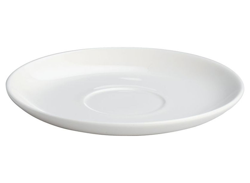 Tavola - Tazze e Boccali - Piattino sottotazza All-time - per tazza da tè All-time di A di Alessi - Sottopiattino tazza da tè - Bianco - Porcellana Bone China