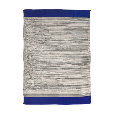 Déco - Pour les enfants - Plaid enfant Dusty Rainbow / 80 x 100 cm - Ferm Living - Bleu / Vert-gris - Coton biologique