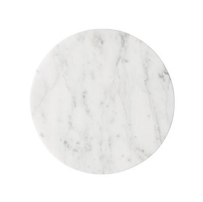 Plateau marbre Ø 23 cm Pour support Wire Menu blanc en pierre