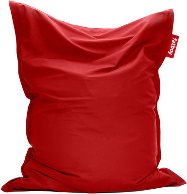 Pouf The Original Outdoor / Pour l'extérieur - Fatboy Larg 140 cm x H 180 cm rouge en tissu