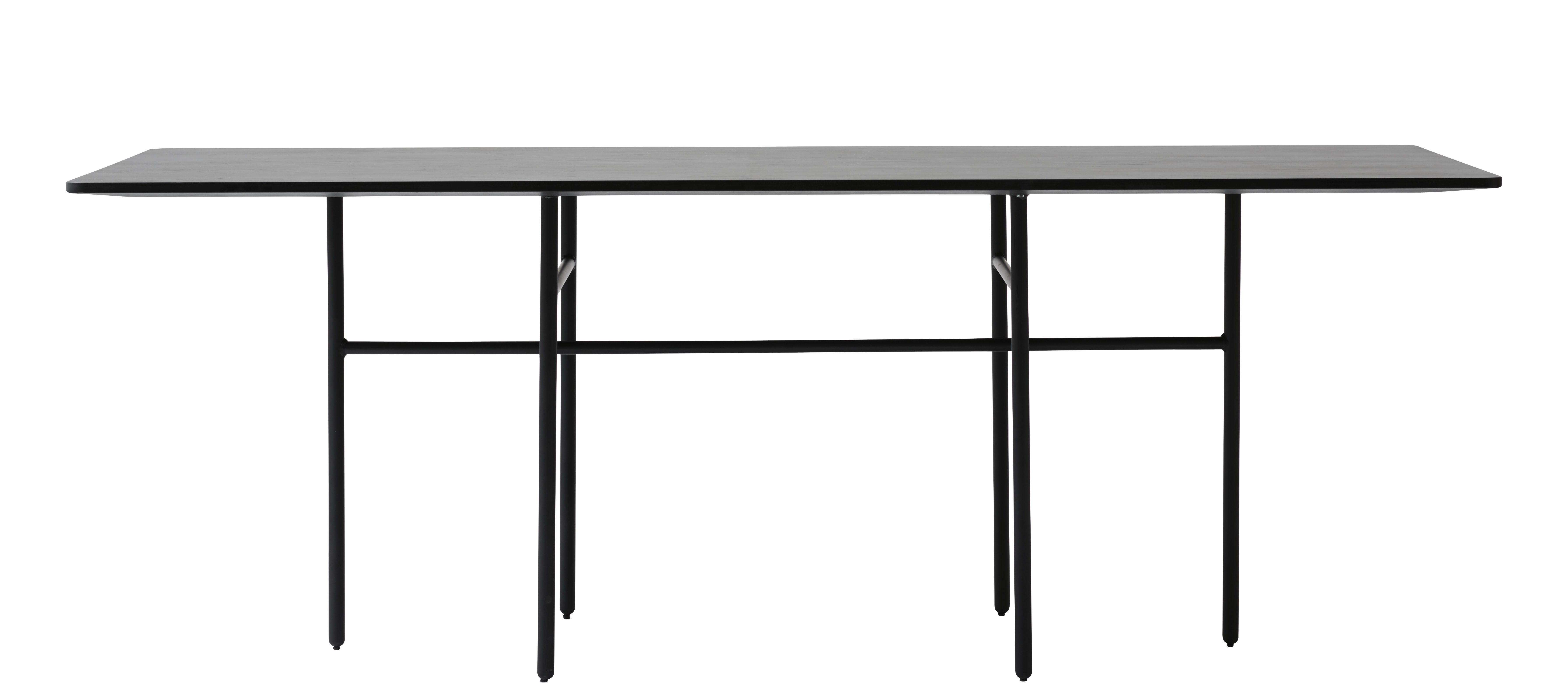 Furniture - Dining Tables - Snaregade Rectangular table - Rectangular - 200 x 90 cm by Menu - Black - Lacquered steel, Oak plywood