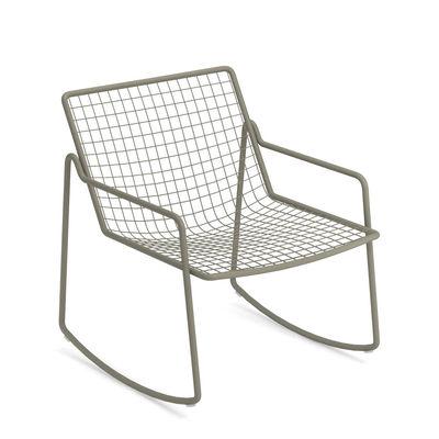 Rocking chair Rio R50 / Métal - Emu gris en métal