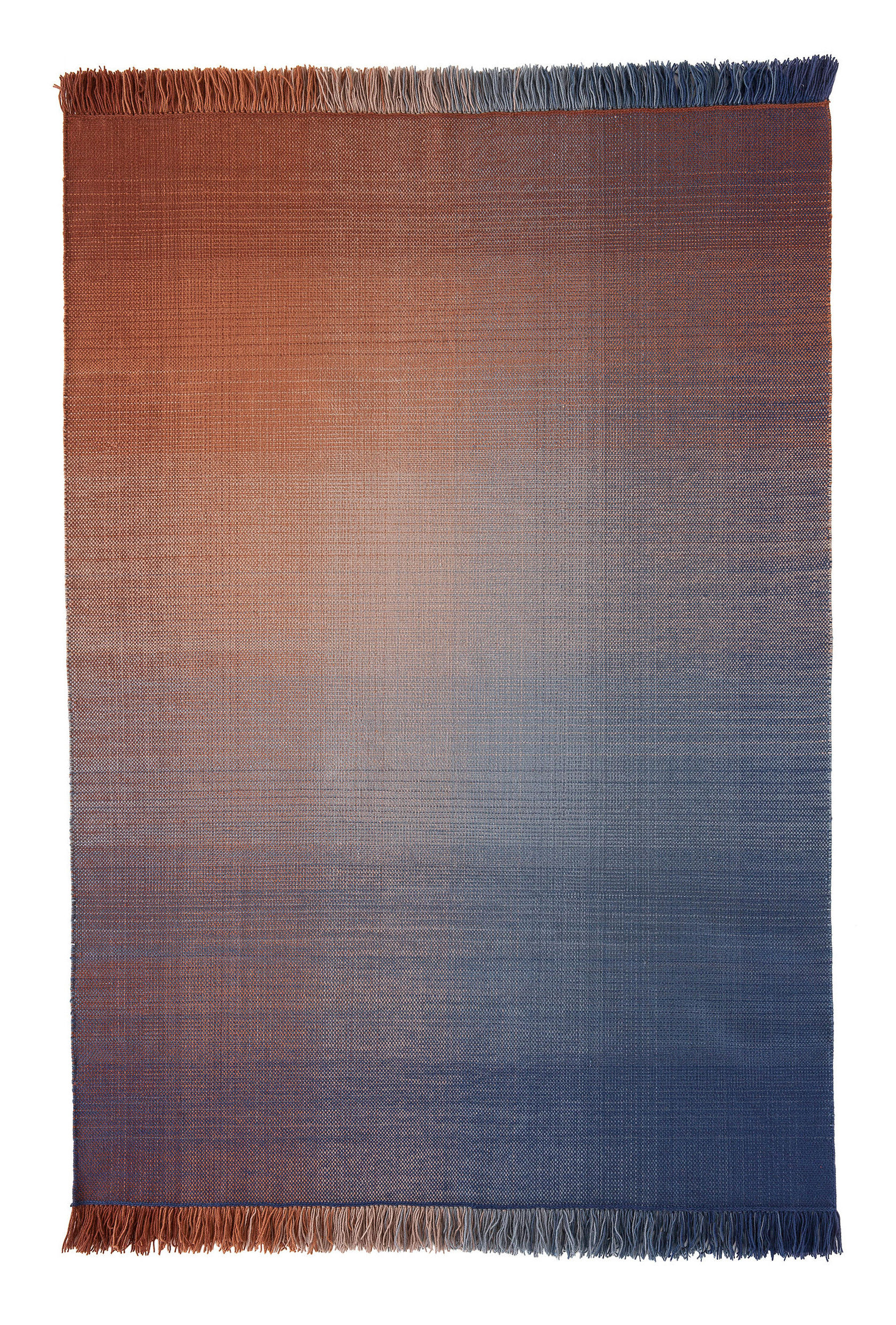 Decoration - Rugs - Shade palette 2 Rug - 170 x 240 cm by Nanimarquina - Blue & Orange - New-zealand wool