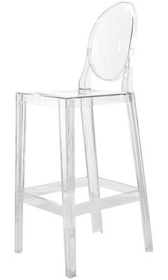Arredamento - Sgabelli da bar  - Sedia da bar One more - H 75cm di Kartell - Cristallo - policarbonato