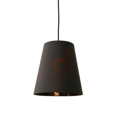 Illuminazione - Lampadari - Sospensione Cupido Small - / Ø 26 x H 24 cm di Karman - Small / Grigio carbone & motivo donna asiatica - Cotone
