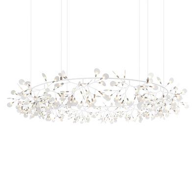 Illuminazione - Lampadari - Sospensione Heracleum The Big O - / Large - Ø 210 cm / LED di Moooi - bianca - Acciaio, Metallo, policarbonato