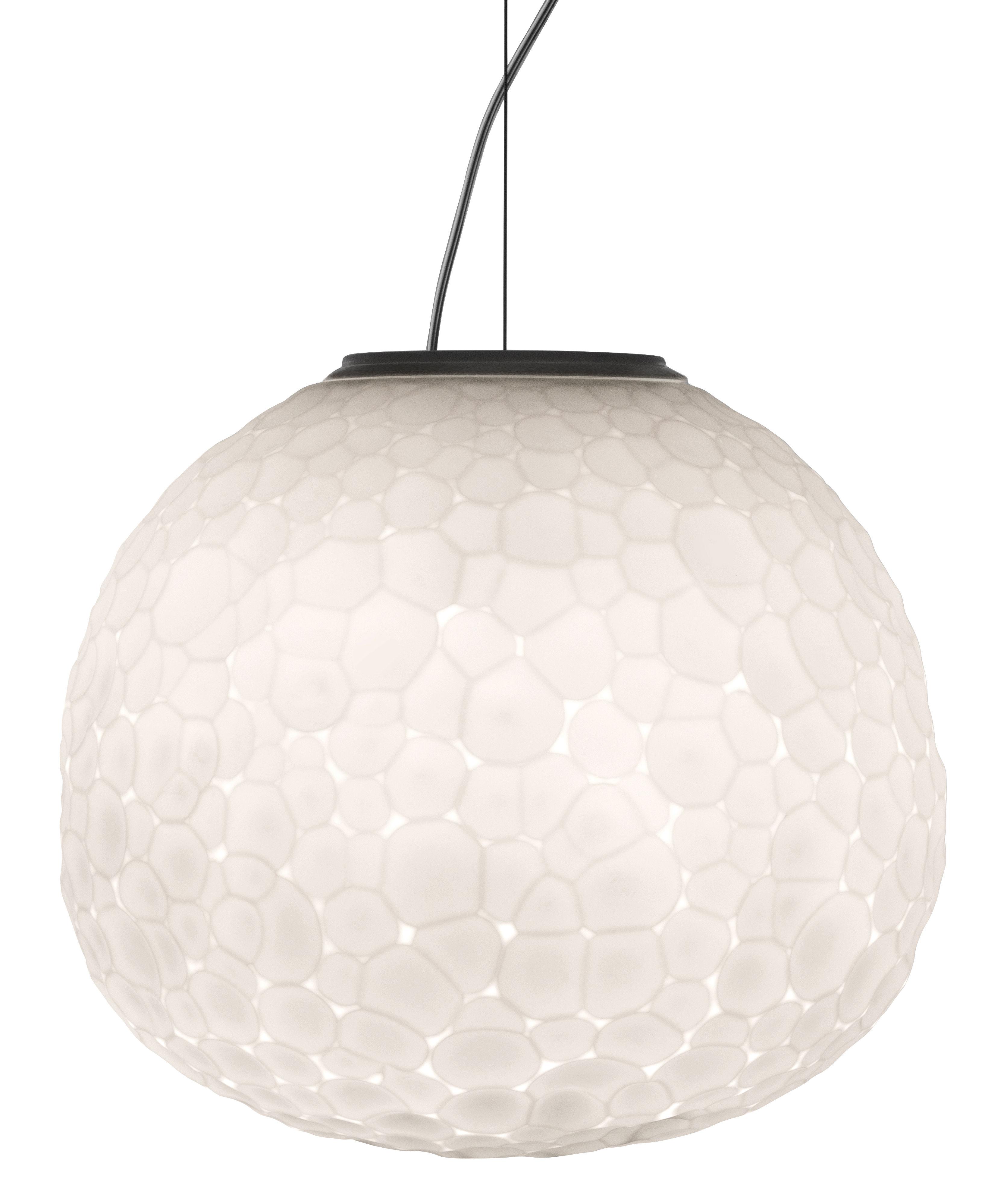 Illuminazione - Lampadari - Sospensione Meteorite - / Ø 35 cm di Artemide - Bianco - vetro soffiato