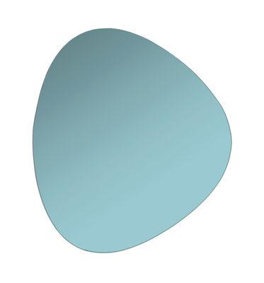 Interni - Specchi - Specchio murale Pebble - / 33 x 30 cm di & klevering - Vert aqua - Vetro colorato