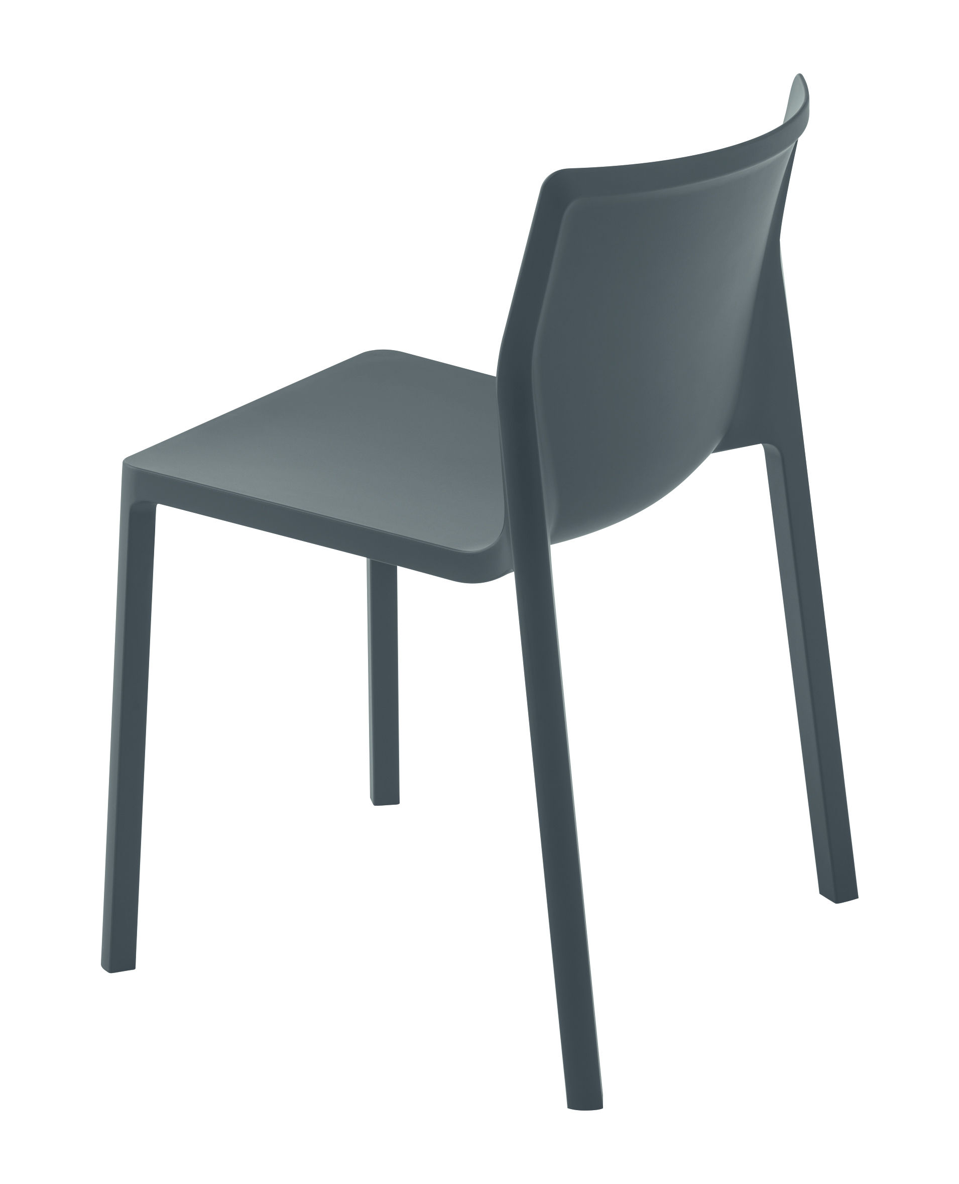 Furniture - Chairs - LP Stacking chair - Renforced polypropylen by Kristalia - Matt grey - Renforced polypropylen