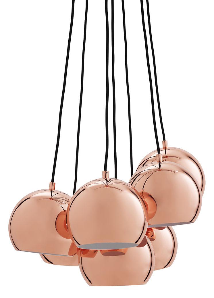 Luminaire - Suspensions - Suspension Ball / Set de 7 - Exclusivité - Frandsen - Cuivre - Métal