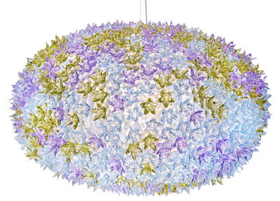 Suspension Big Bloom / Ø 80 cm - Kartell lavande transparent en matière plastique