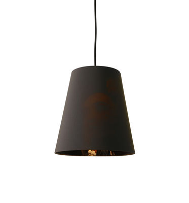 Luminaire - Suspensions - Suspension Cupido Small / Ø 26 x H 24 cm - Karman - Small / Gris charbon & motif femme asiatique - Coton