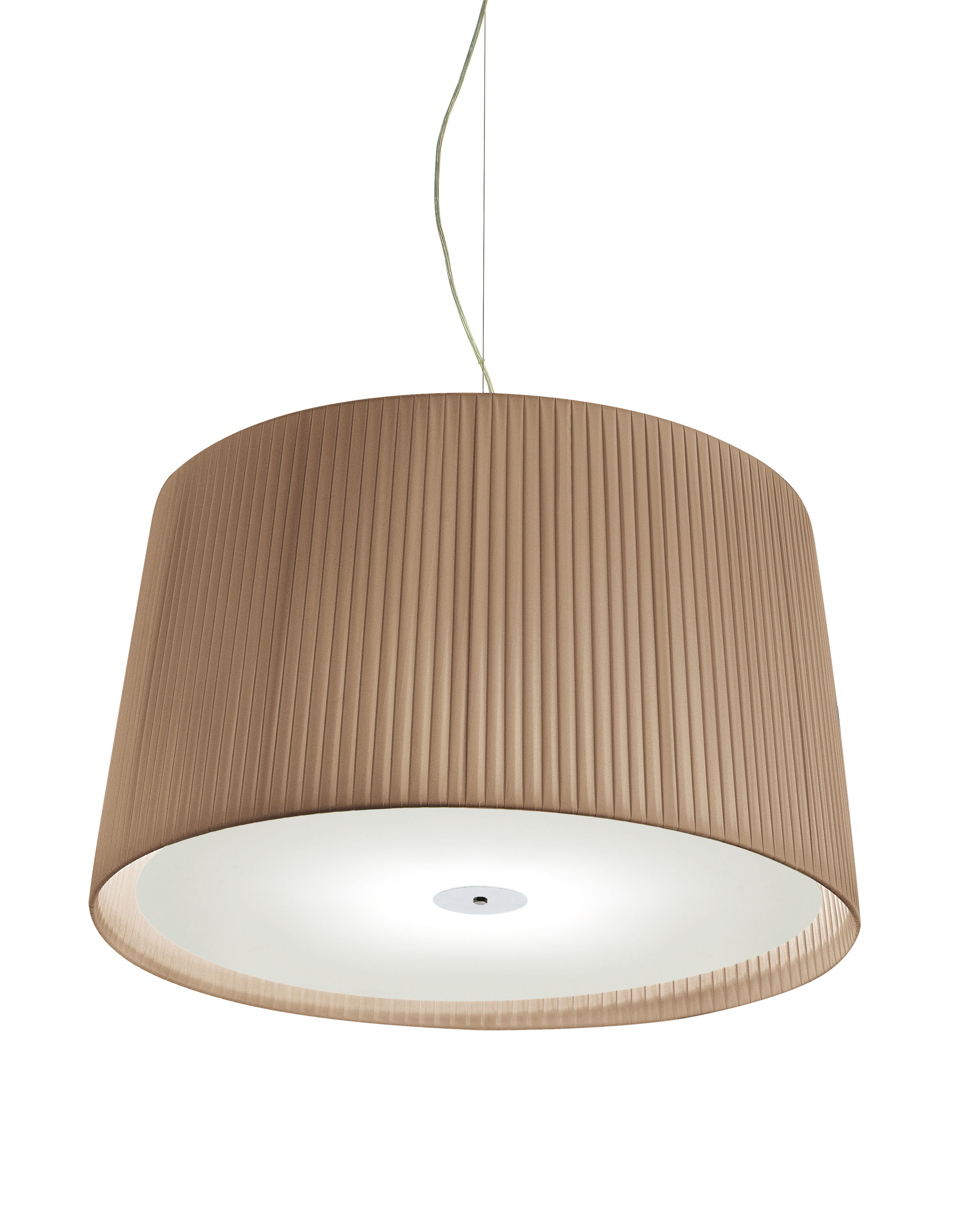 Luminaire - Suspensions - Suspension Milleluci / Ø 40 cm - Modoluce - Beige foncé - Coton, Plexiglas
