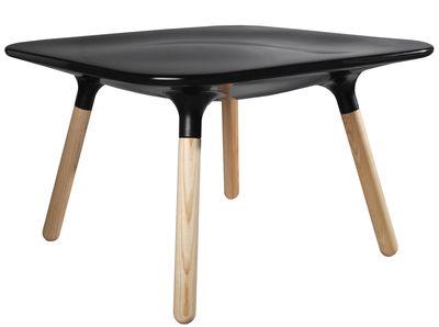 Table basse Marguerite / H 45 cm - Stamp Edition noir en matière plastique/bois