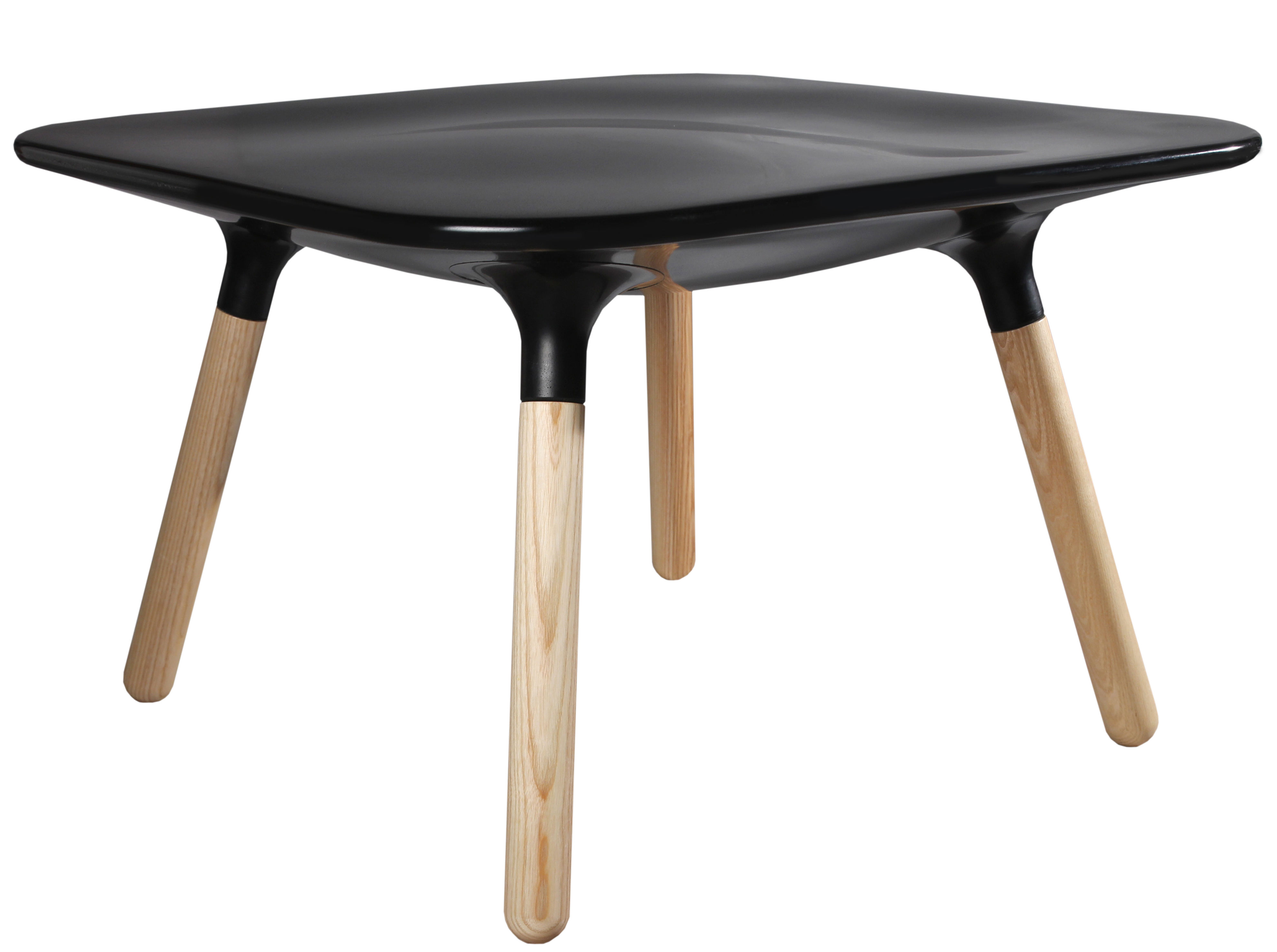 Mobilier - Tables basses - Table basse Marguerite / H 45 cm - Stamp Edition - Noir - Frêne, Matériau composite
