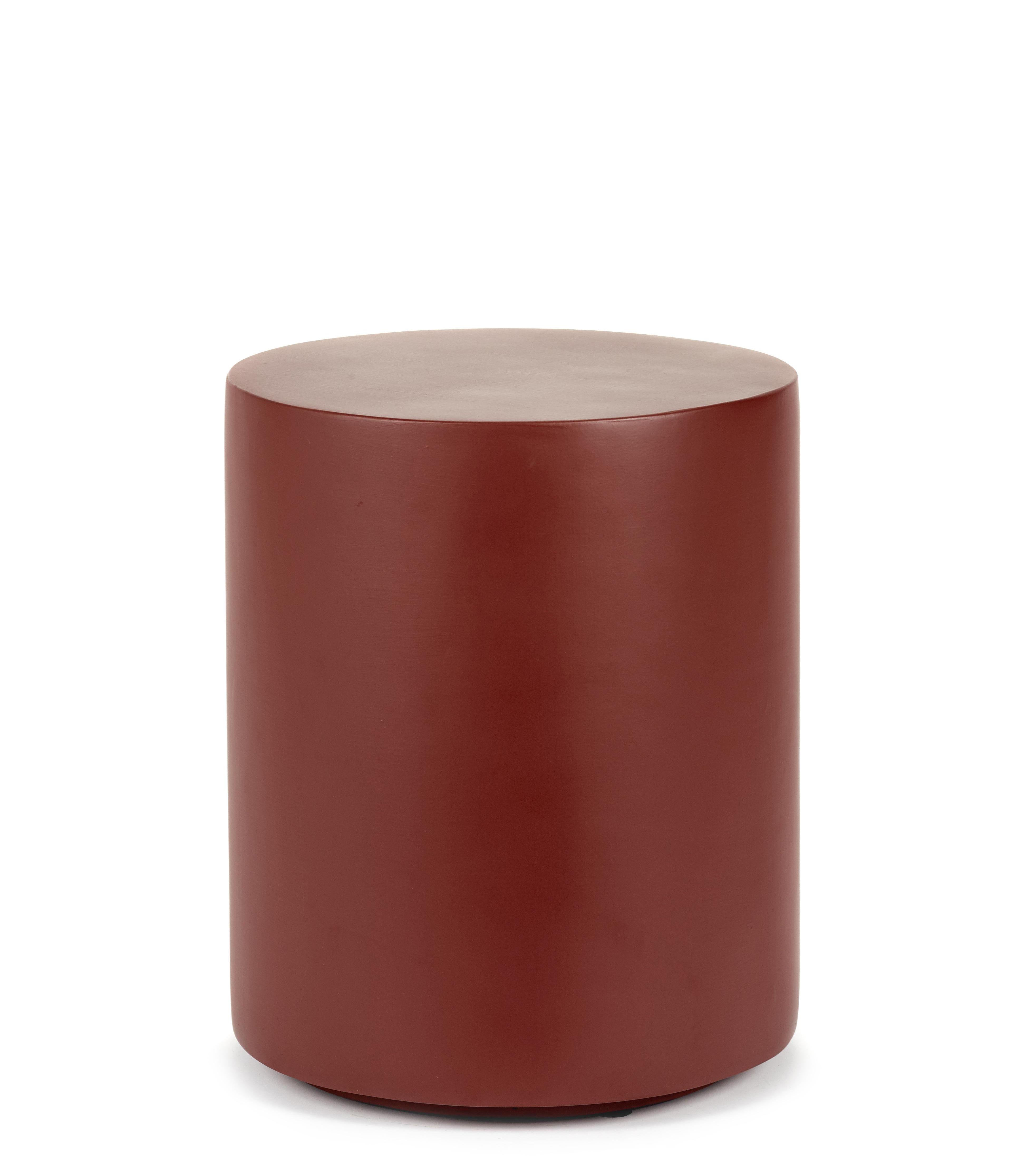 Mobilier - Tables basses - Table d'appoint Pawn / Tabouret - Ø 30 x H 36 cm - Fibre polyester - Serax - Rouge - Fibre polyester peinte