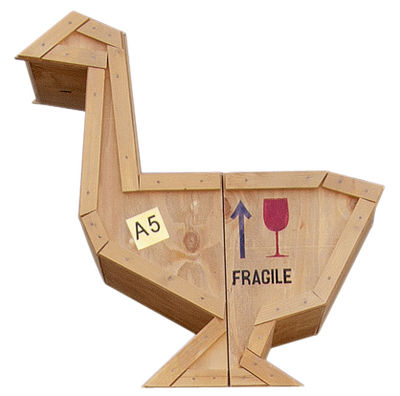 Mobilier - Tables de chevet - Table d'appoint Sending Animals Oie / Rangement - L 65 x H 66 cm - Seletti - Bois naturel - Bois