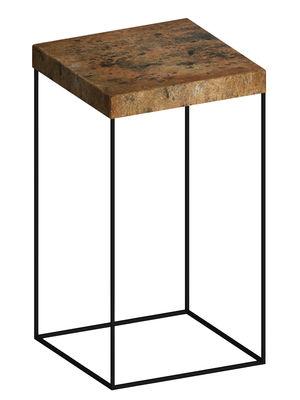 Mobilier - Tables basses - Table d'appoint Slim Up Art / 31 x 31 x H 64 cm - Rouille patinée - Zeus - Rouille patinée / Pied noir cuivré - Acier peint