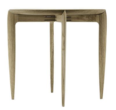 Table d'appoint Tray Small / Réédition 1958 - Plateau amovible Ø 45 cm - Fritz Hansen bois naturel en bois