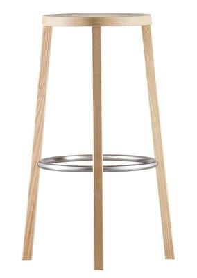 Mobilier - Tabourets de bar - Tabouret de bar Blocco / Bois - H 76 cm - Plank - Frêne Naturel - Frêne naturel