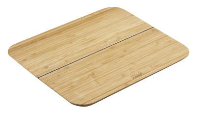 Cucina - Utensili da cucina - Tagliere Chop2Pot Bambou - / Pieghevole - L 33 cm di Joseph Joseph - Bambù - Bambù, Silicone