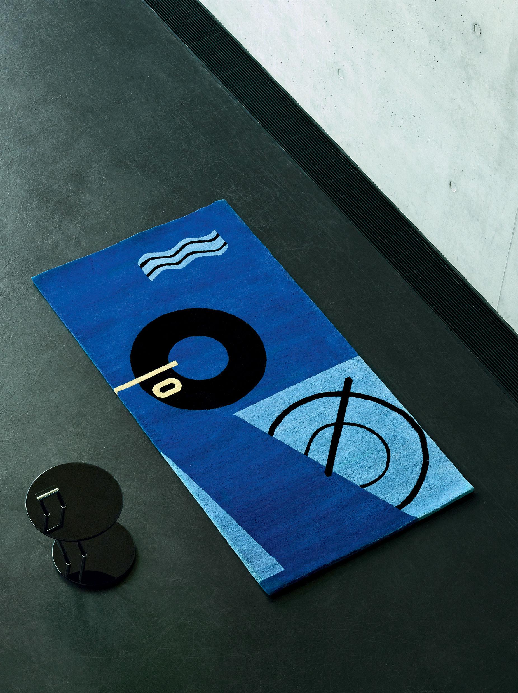 tapis bleu marine r dition 1925 1935 nou main bleu. Black Bedroom Furniture Sets. Home Design Ideas