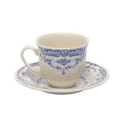 Arts de la table - Tasses et mugs - Tasse à café Rose / Avec soucoupe - Bitossi Home - Tasse à café / Bleu - Céramique Ironstone