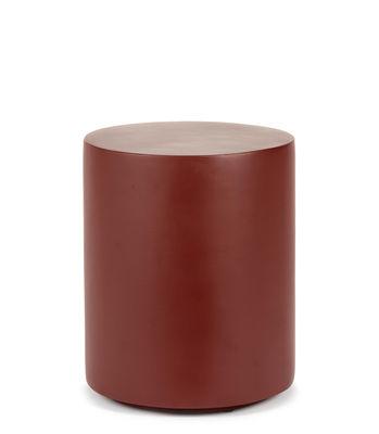 Arredamento - Tavolini  - Tavolino d'appoggio Pawn - / Sgabello - Ø 30 x H 36 cm - Fibra poliestere di Serax - Rosso - Fibra in poliestere dipinta