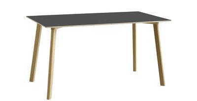 Arredamento - Tavoli - Tavolo rettangolare Copenhague CPH DEUX 210 - / 140 x 75 cm di Hay - Antracite / Rovere naturale - Laminato, Rovere massello, Stratificato