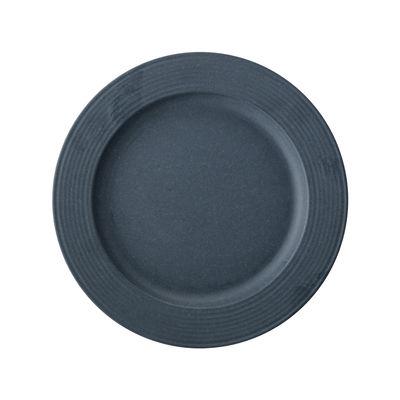 Tischkultur - Teller - Java Teller / Bambus - Ø 22 cm - Bloomingville - Blau - Bambusfaser