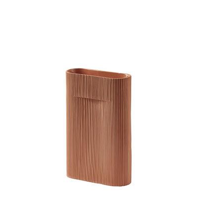 Déco - Vases - Vase Ridge Medium / H 35 cm - Terre cuite - Muuto - Terracotta - Terre cuite