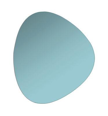 Decoration - Mirrors - Pebble Wall mirror - / 33 x 30 cm by & klevering - Aqua green - Coloured glass