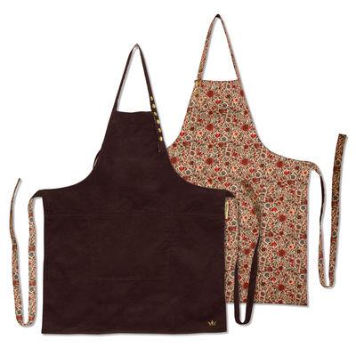 Kitchenware - Tea Towels & Aprons - Apron - reversible / Liberty & Plum by Dutchdeluxes - Liberty / Plum velvet - Cotton