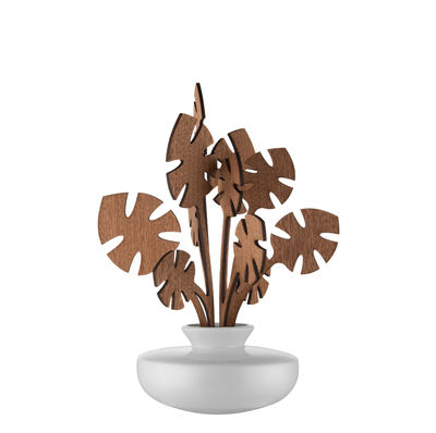 Decoration - Candles & Candle Holders - The Five Seasons Aroma vaporizer - / Porcelain - H 22.5 cm by Alessi - 150 ml - Hmm - China, Mahogany