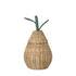 Pear Small Basket - / Wicker - Ø 19 x H 30 cm by Ferm Living