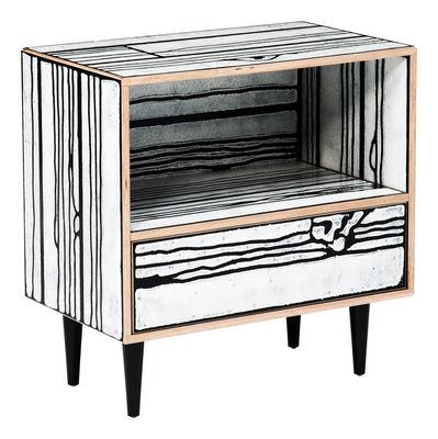 Furniture - Bedside & End tables - Wrongwoods Bedside table - Bedside by Established & Sons - Black - Painted plywood