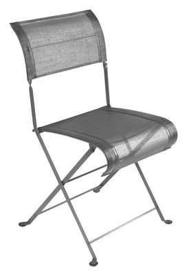Chaise pliante Dune / Toile - Fermob gris métal en tissu
